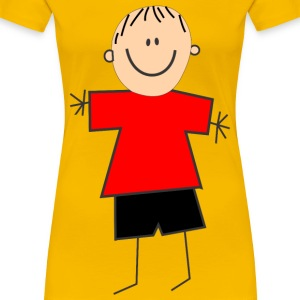 Boy with red shirt - Women's Premium T-Shirt