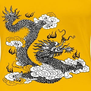 Asian Dragon Line Art 2 - Women's Premium T-Shirt