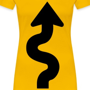 Squiggly Road Sign Arrow - Women's Premium T-Shirt