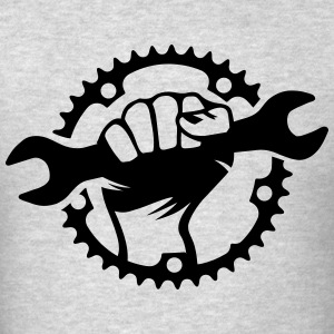 Bike Hero chainring bicycle bike cycling spanner T-Shirts - Men's T-Shirt