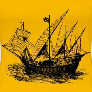 14th century ship - Women's Premium T-Shirt
