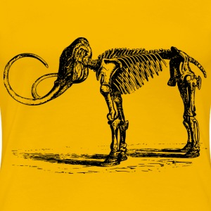 Mammoth skeleton - Women's Premium T-Shirt