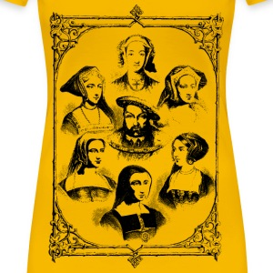 Henry VIII and wives - Women's Premium T-Shirt