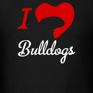 I Love Bulldogs - Men's T-Shirt