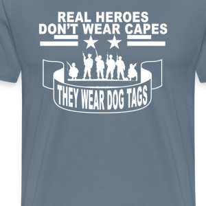 real_heroes_dont_wear_capes_ - Men's Premium T-Shirt