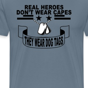 real_heroes_dont_wear_capes_tshirt_ - Men's Premium T-Shirt