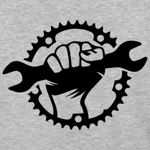 Bike Hero chainring bicycle bike cycling spanner T-Shirts - Baseball T-Shirt