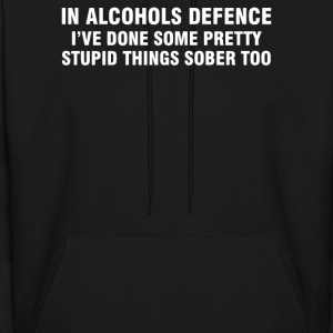 In Alcohols Defence - Men's Hoodie