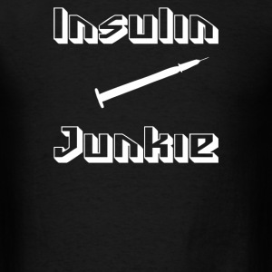 Insulin Junkie Funny - Men's T-Shirt