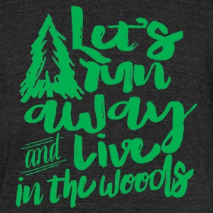 Forest Living - Unisex Tri-Blend T-Shirt by American Apparel