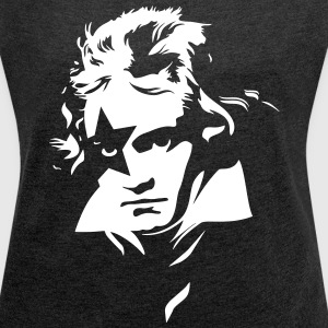 Beethoven Kiss Black Metal - Women´s Roll Cuff T-Shirt