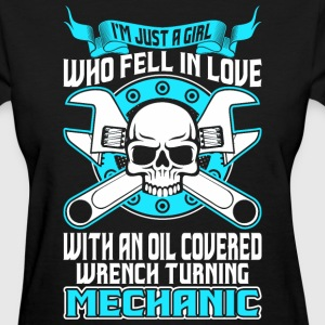 Girl Fell In Love With Oil Covered Wrench Mechanic T-Shirts - Women's T-Shirt