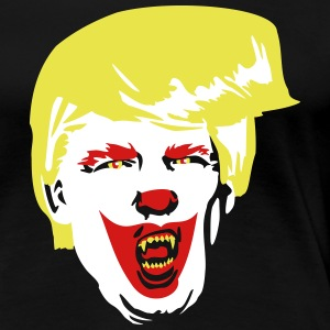 Evil Clown Trump Election 2016 Halloween - Women's Premium T-Shirt