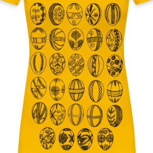 Decorated Easter eggs - Women's Premium T-Shirt