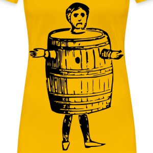 Man in barrel - Women's Premium T-Shirt