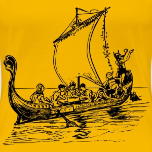 Ancient Greek boat - Women's Premium T-Shirt