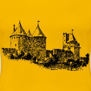 Carcassonne wall - Women's Premium T-Shirt