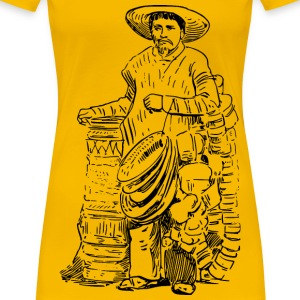 Mexican basket vendor - Women's Premium T-Shirt