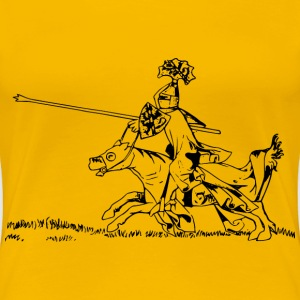 Jousting knight 2 - Women's Premium T-Shirt
