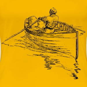 Man rowing boat - Women's Premium T-Shirt