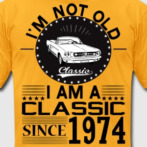 Classic since 1974 T-Shirts - Men's T-Shirt by American Apparel