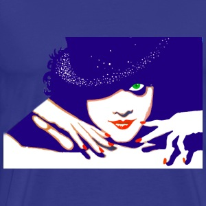 Sexy lady with a shiny hat shirt - Men's Premium T-Shirt