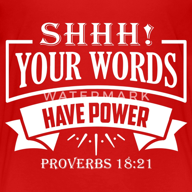 Shhh! Your Words Have Power - Kids' Premium T-Shirt