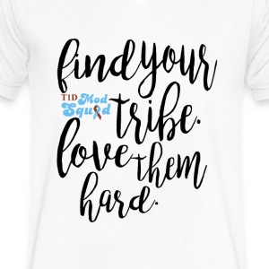 Find Your Tribe 2.png T-Shirts - Men's V-Neck T-Shirt by Canvas