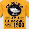 Classic since 1980 T-Shirts - Men's T-Shirt by American Apparel