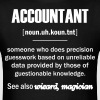 Accountant Gifts - Accountant Definition  T-Shirts - Men's T-Shirt