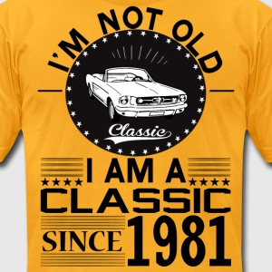 Classic since 1981 T-Shirts - Men's T-Shirt by American Apparel