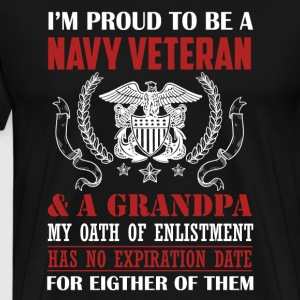 Navy Veteran Grandpa - Men's Premium T-Shirt