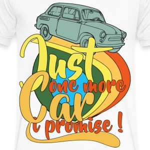 Just One More Car T-Shirts - Men's V-Neck T-Shirt by Canvas
