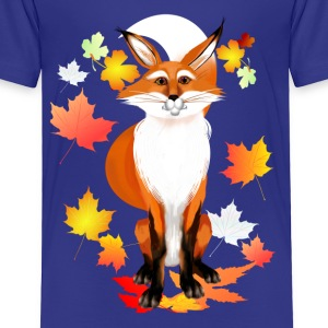 Happy Fox in Fall - Toddler Premium T-Shirt