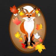 Design ~ Happy Fox in Fall oval