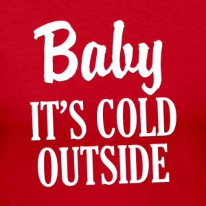 Baby It's Cold Outside funny Christmas women's  - Women's Long Sleeve Jersey T-Shirt
