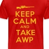 KEEP CALM AWP YELLOW - Men's Premium T-Shirt