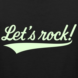 Let's Rock! (Rock 'n' Roll Music) Sportswear - Men's Premium Tank
