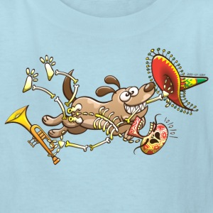 Mischievous Dog Stealing Mexican Skeleton Kids' Shirts - Kids' T-Shirt