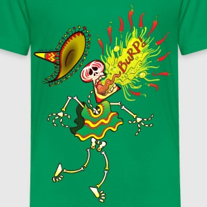 Mexican Skeleton Burping Hot Chili Peppers Baby & Toddler Shirts - Toddler Premium T-Shirt