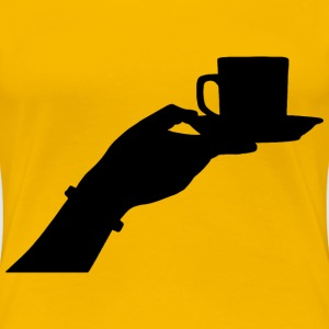 Female Hand Offering Cup Of Coffee - Women's Premium T-Shirt