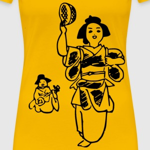 Japanese folk song dancingyasugibushi - Women's Premium T-Shirt