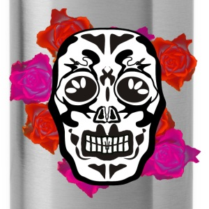 mexican skull flowers Sportswear - Water Bottle