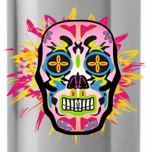 mexican skull blue Sportswear - Water Bottle