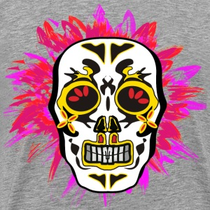 mexican skull white red T-Shirts - Men's Premium T-Shirt