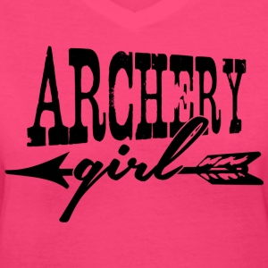 Archery Girl Shirts - Women's V-Neck T-Shirt
