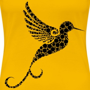 Hummingbird Circles - Women's Premium T-Shirt