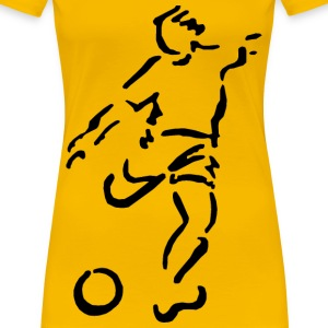 Football Soccer Stencil - Women's Premium T-Shirt