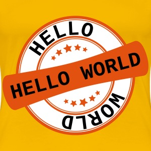 Label Hello World - Women's Premium T-Shirt