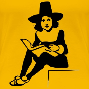 Lady reading - Women's Premium T-Shirt